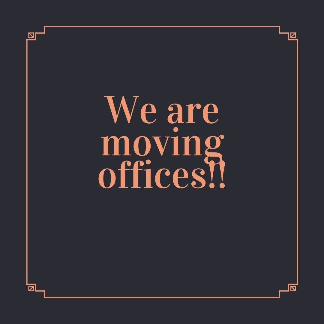 We are moving offices today!!!